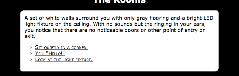 Global Game Jam 2013: The Rooms