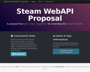 Steam WebAPI Proposal
