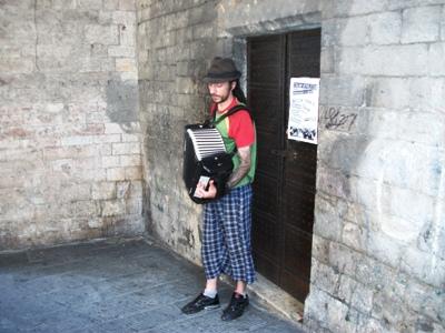 Les musiciens de la rue en Italie (1/2)