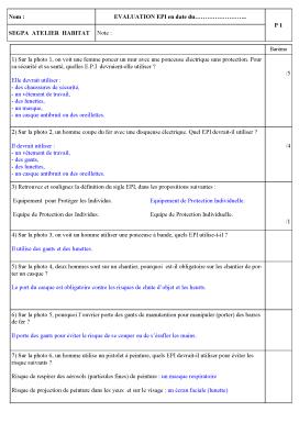 evaluation epi PROF