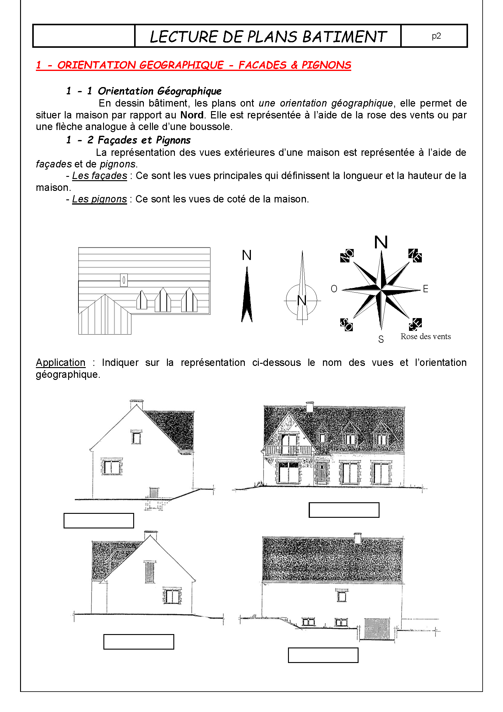 Lecture batiment page 02 for Les plans de lowe