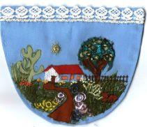 Bolso bordado por Agnes Franchini