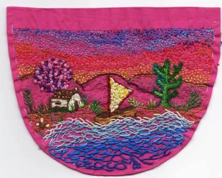 Bolso bordado por Marta Oliveira Jungmann