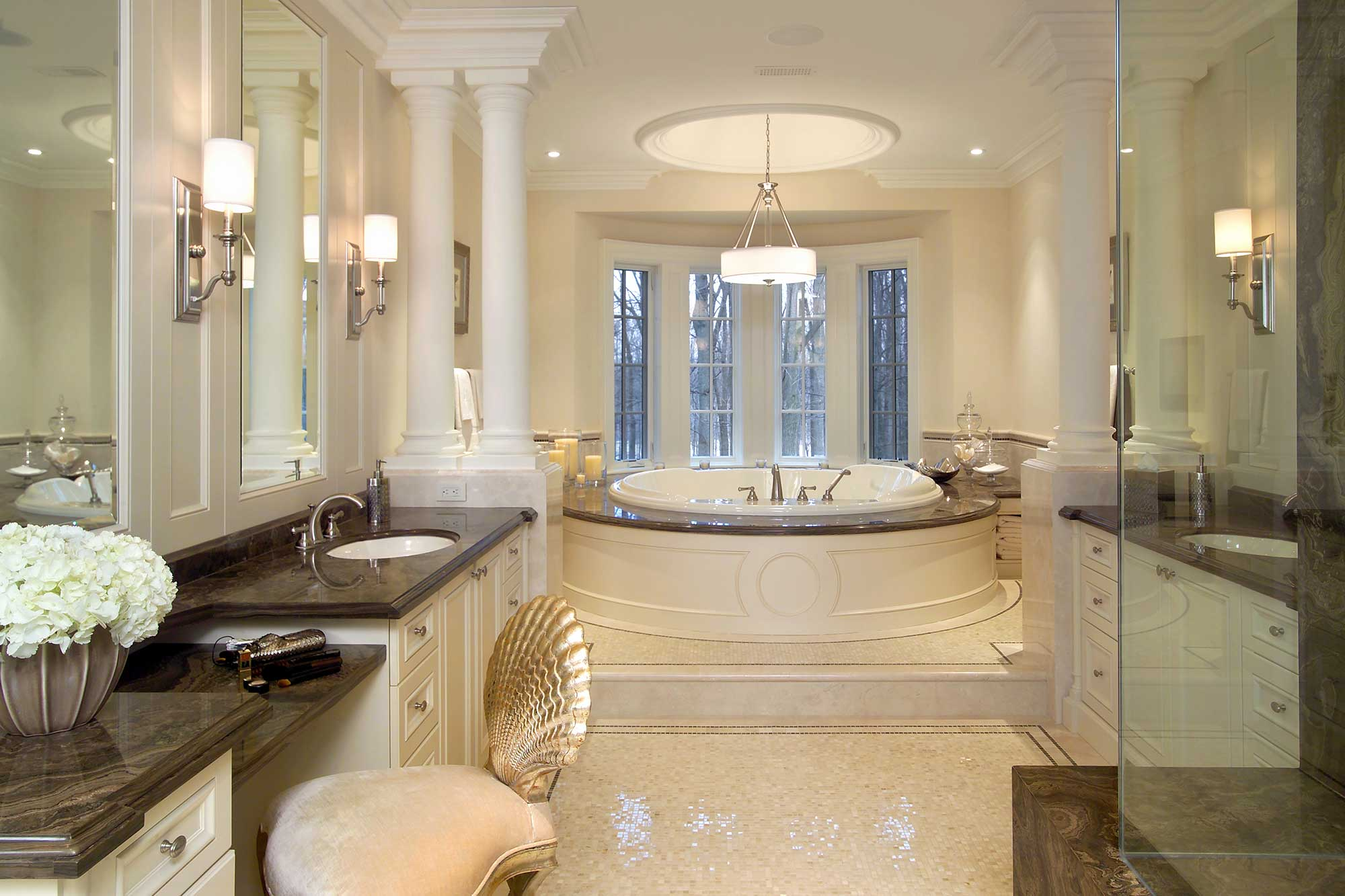 Traditional Master Bedroom Ensuite Bath