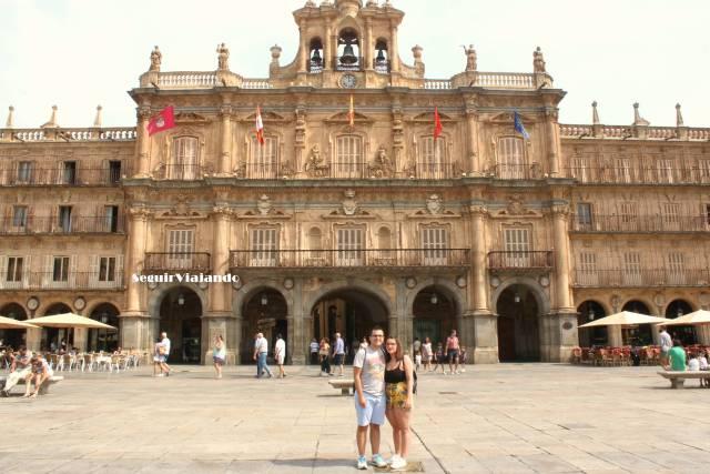 Nosotros en la Plaza Mayor.