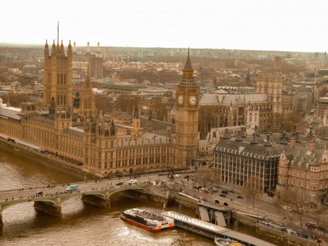 Vista de Big Ben desde London Eye