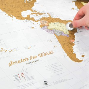 Regalar mapamundi para rascar - Seguir Viajando