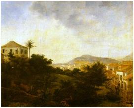 Imagem: Nicolas- Antoine Taunay. Vista Tirada do Morro da Glória, 1820, 47x57cm. Museu Castro Maya, Rio de Janeiro