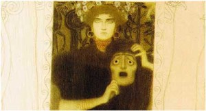 Imagem: A tragédia (detalhe). Gustav Klimt. 1897.