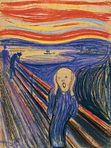 Imagem O grito, de Edvard Munch, 1895