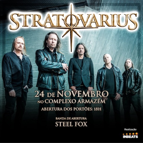 Anúncio do show do Stratovarius em Fortaleza