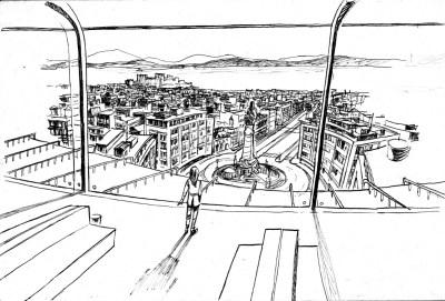 Elda vê Lisboa da janela do Instituto da Bóreas