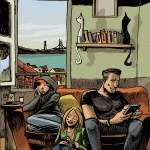 Elda, Bartolomeu e Carola no apartamento lisboeta num 2017 alternativo