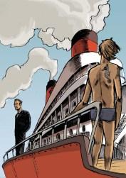 Bartolomeu e Tiago no navio
