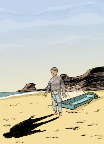 Tiago ameaçado na praia de Odeceixe