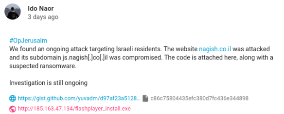 OpJerusalem2019 - JCry ransomware is now infecting Windows users