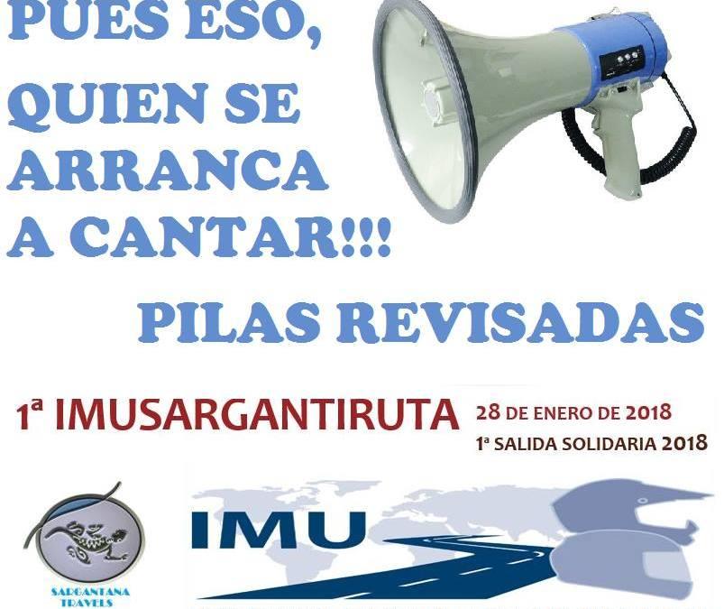 IMU Sargantana… ruta solidaria… para defender motoristas.