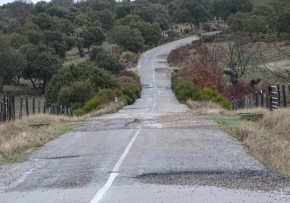 Denunciamos el estado de la carretera de Tudera a la ZA-2226.