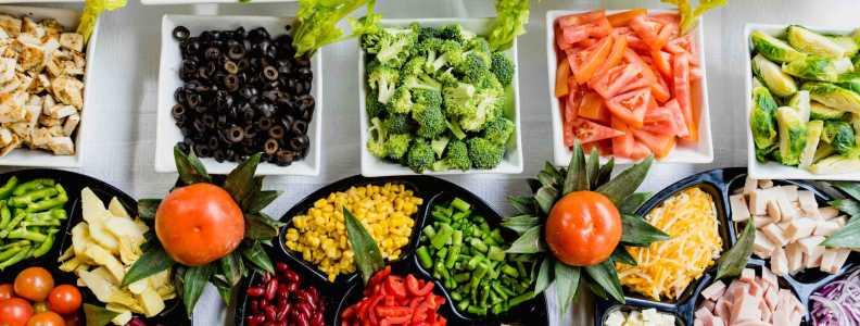 Vida saludable alimentos vegetales