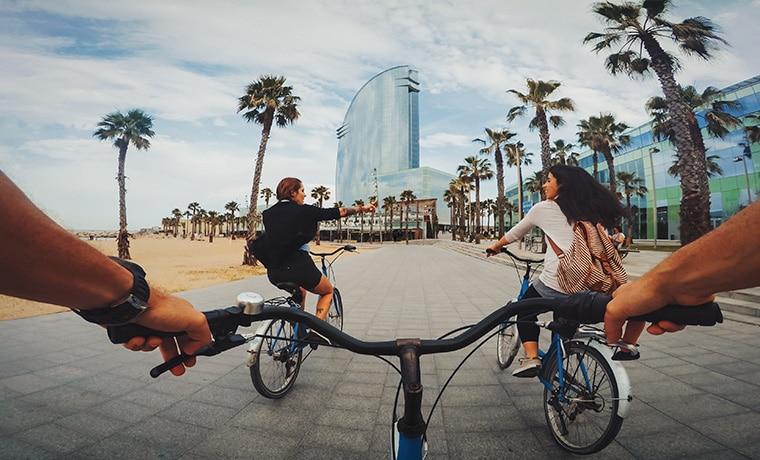 viajante bicicleta barcelona