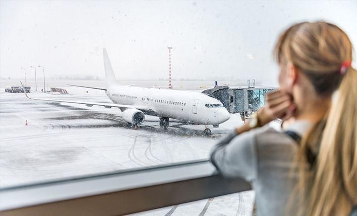 voo atrasado neve