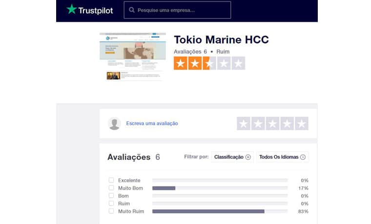 HCC Medical Insurance seguro de viagem Trustpilot