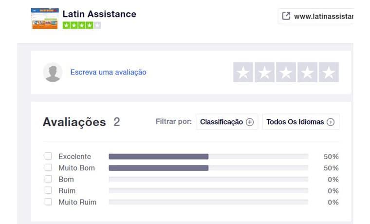 Latin Assistance seguro viagem Trustpilot