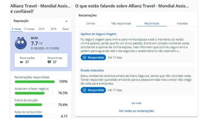 Allianz Seguro Viagem Reclame Aqui