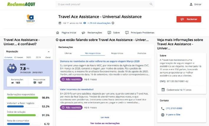 Reclame Aqui Travel Ace