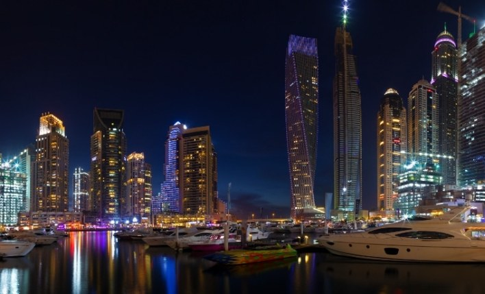 Noite seguro viagem Emirados Árabes