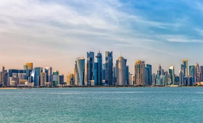 vista dos prédios de Doha capital Catar
