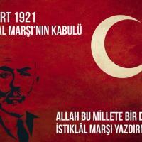 Genel Başkandan 12  Mart İstiklal Marşı'nın Kabulü  Mesajı: