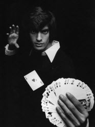David Copperfield doing a card trick