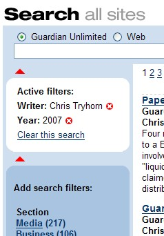 guardian search-browse filter
