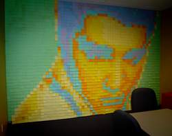 post it note mosaic