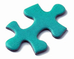 teal puzzle piece