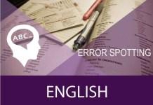 sentence error spotting