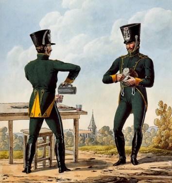 Chasseurs à cheval - Planche de Carle Vernet illustrant le Règlement de 1812