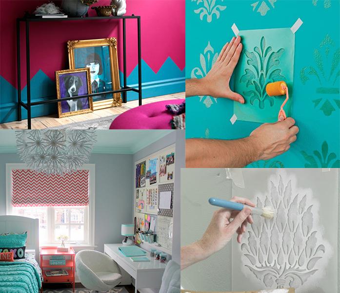 paredes coloridas decoracao stencil 10 coisas que você pode fazer para mudar seu quarto agora!