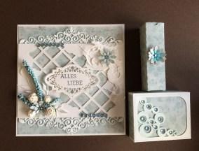 Geschenkset Karte mit Verpackung für Seife und Lippenpflege