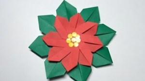 ポインセチア折り紙