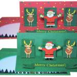 子供でも作れるクリスマスカード 飛び出すタイプや刺繍タイプの作り方を紹介します