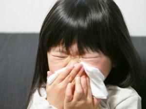 小児の子にもみられるアレルギー性鼻炎