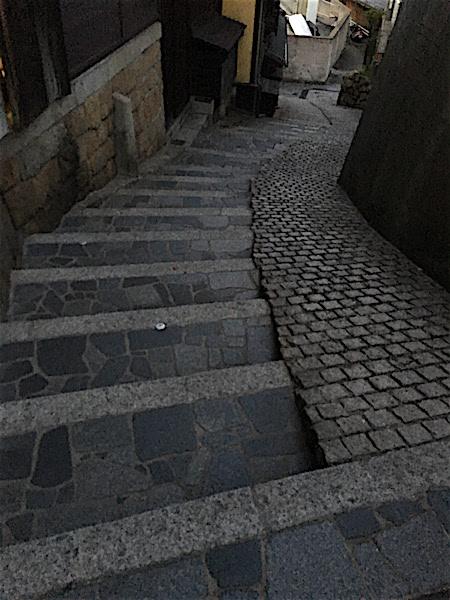 鞆の浦、歩道