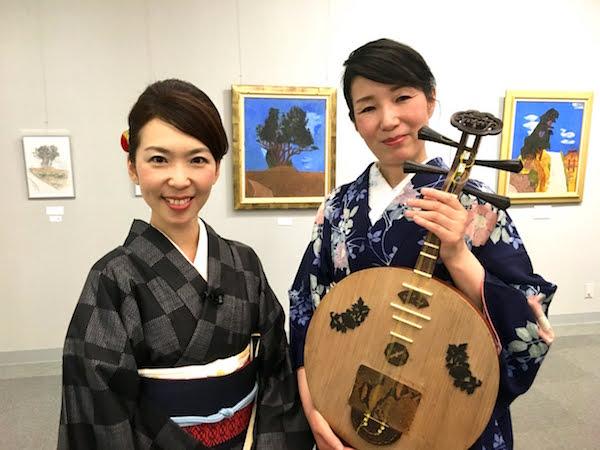 月琴で綴る龍馬の手紙@芸西村・尾崎美樹さん、永田斉子