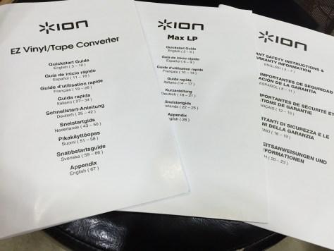 EZ Vinyl/Tape Converter 説明書