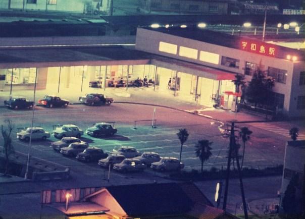 宇和島駅夜景 右より