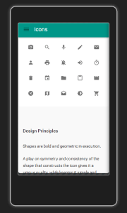 Icons and Material Design