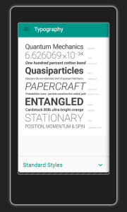 Typography - the new Robotic Font