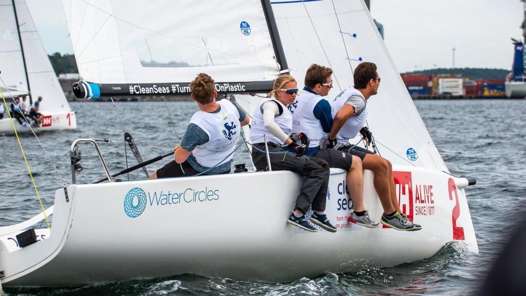 BI ATHLETICS: Stødig seiling i seilsportsligaens øverste divisjon ga BI Athletics seieren i ligarunde nummer to. FOTO: Morten Jensen.